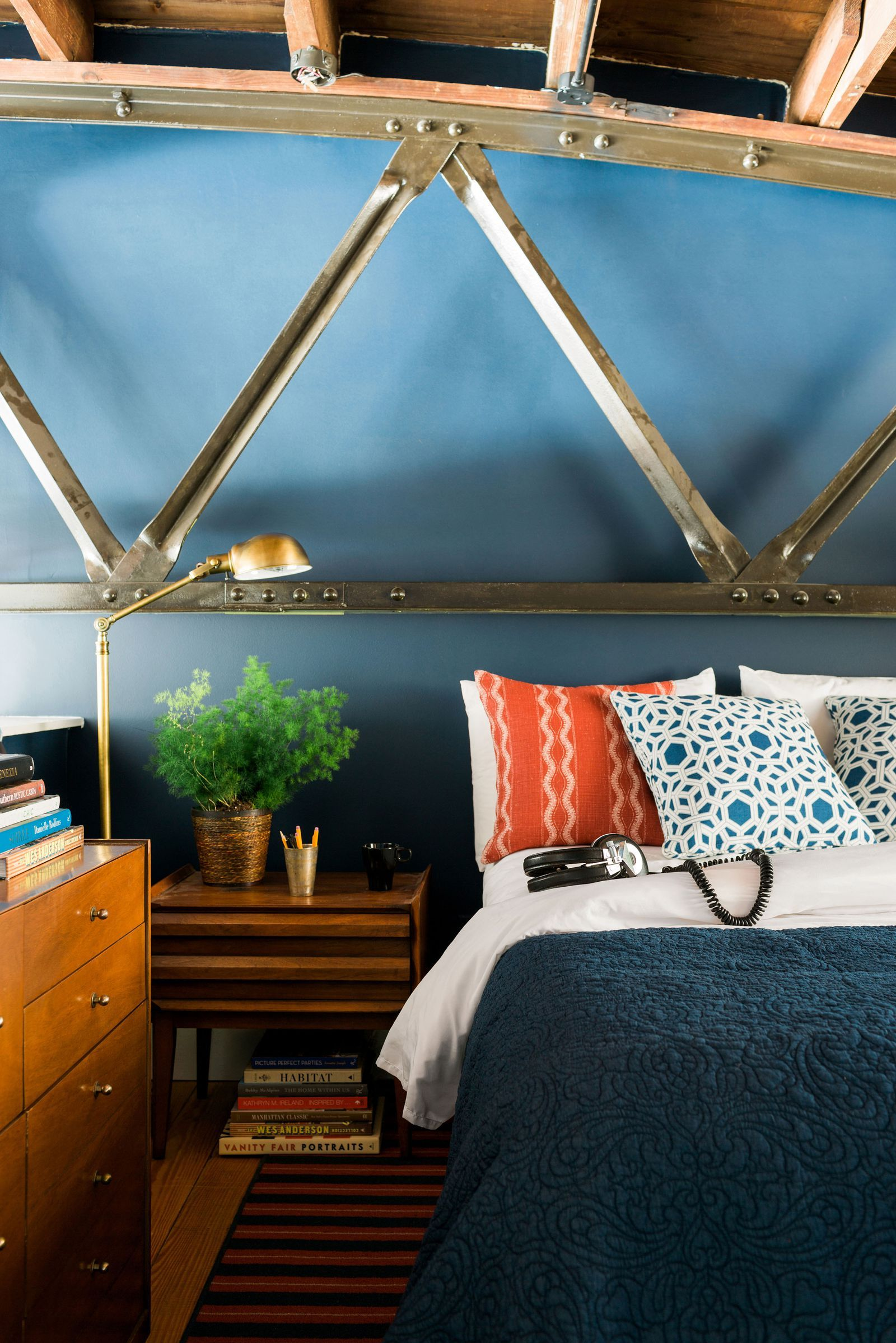 An Atlanta Loft Gets an Artsy Makeover Eclectic bedroom