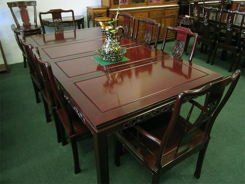 Solid Rosewood 80 Rectangular Dining Table Set Oriental Chinese