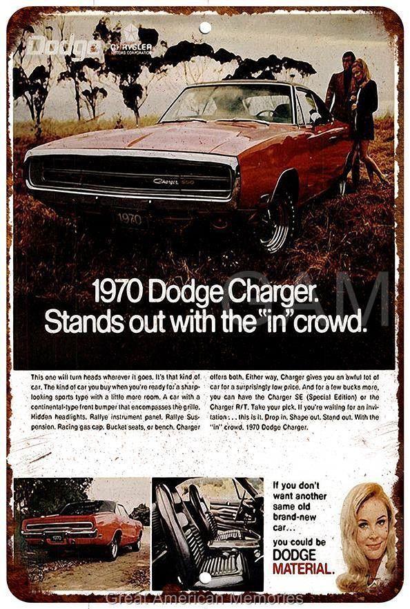 Vintage Look Reproduction 1970 Dodge Challenger Metal Sign