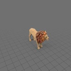 Stylized lion standing , #Ad, #Stylized, #lion, #standing #Ad
