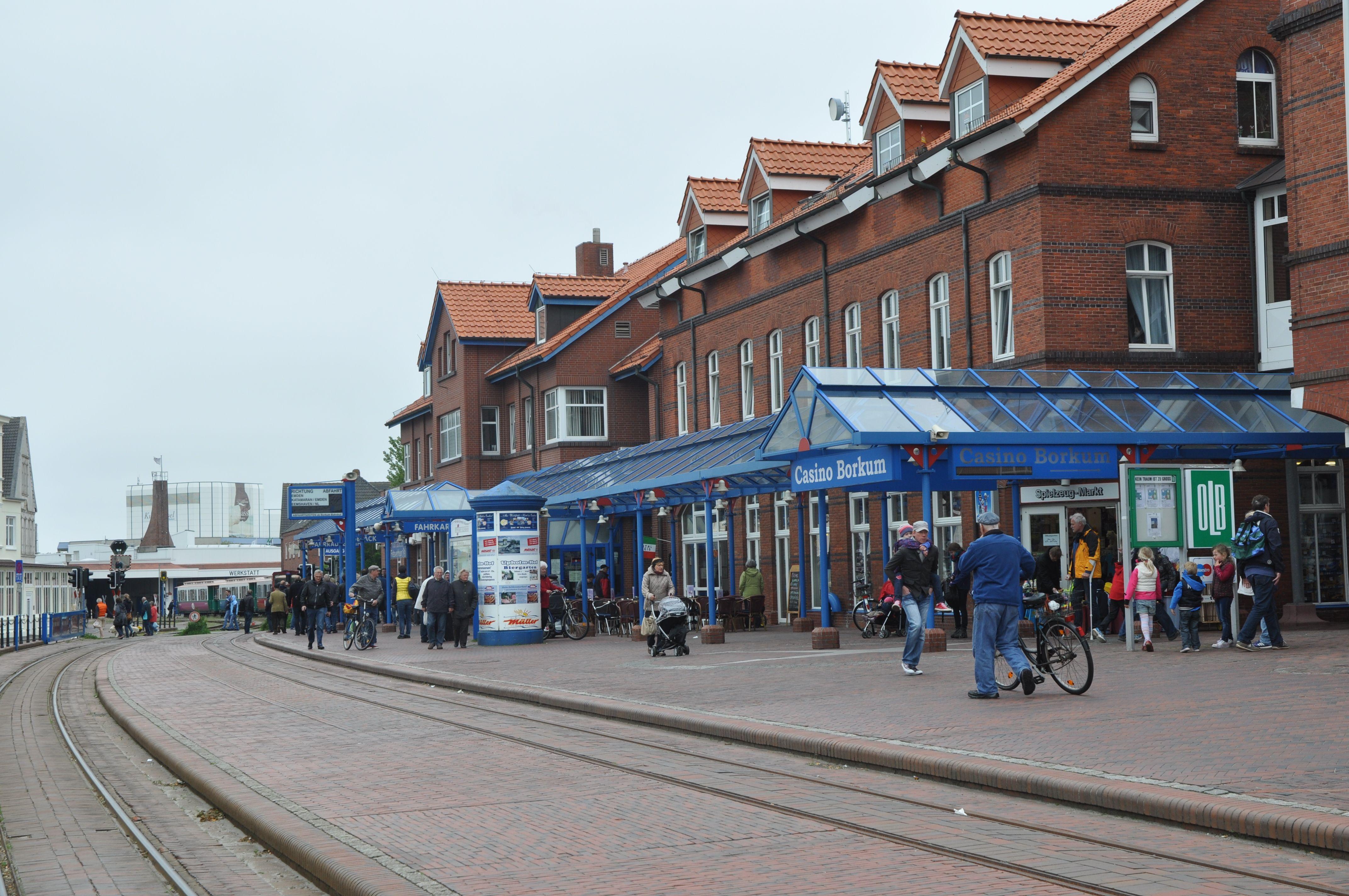 Borkum Niedersachsen Train Station Bahnhof Gare Mit