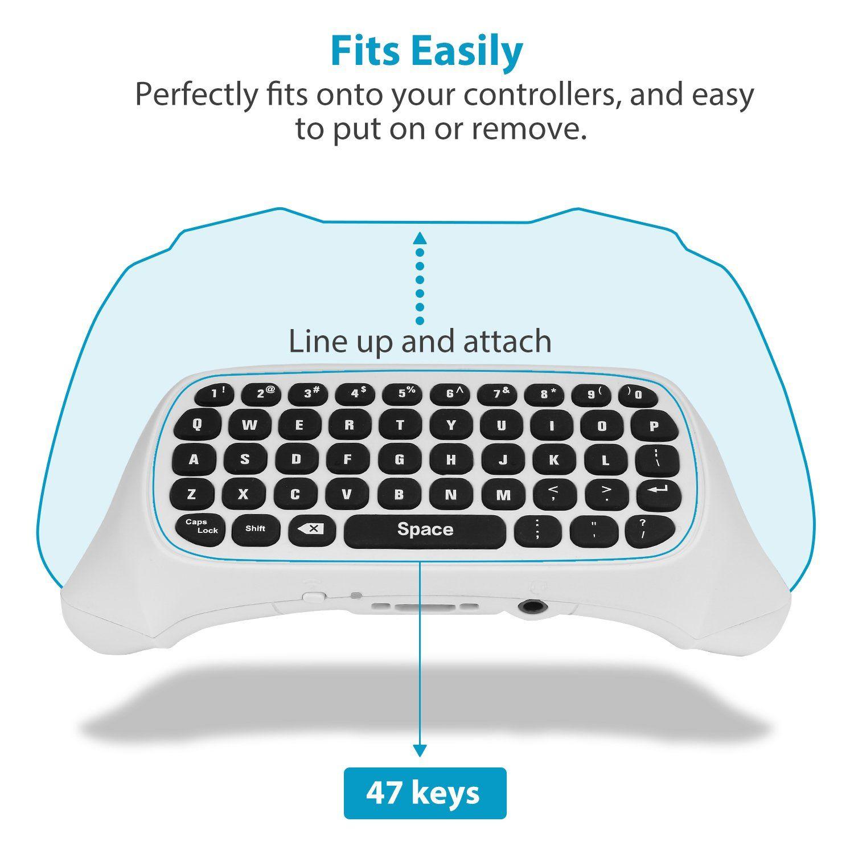 moko xbox one mini green backlight keyboard, 2 4g receiver wireless chatpad  message game keyboard