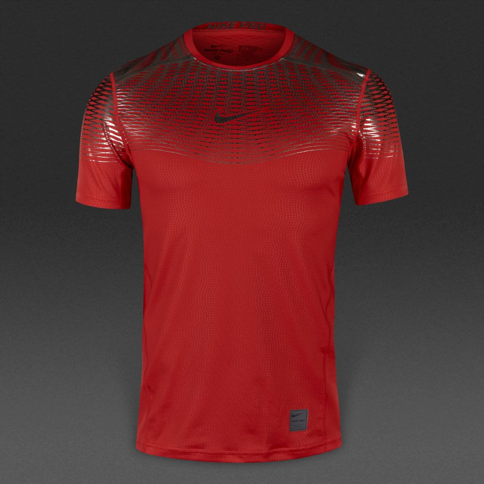 Camiseta Nike Hypercool Max Fitted-Rojo Titanio  531e6156238