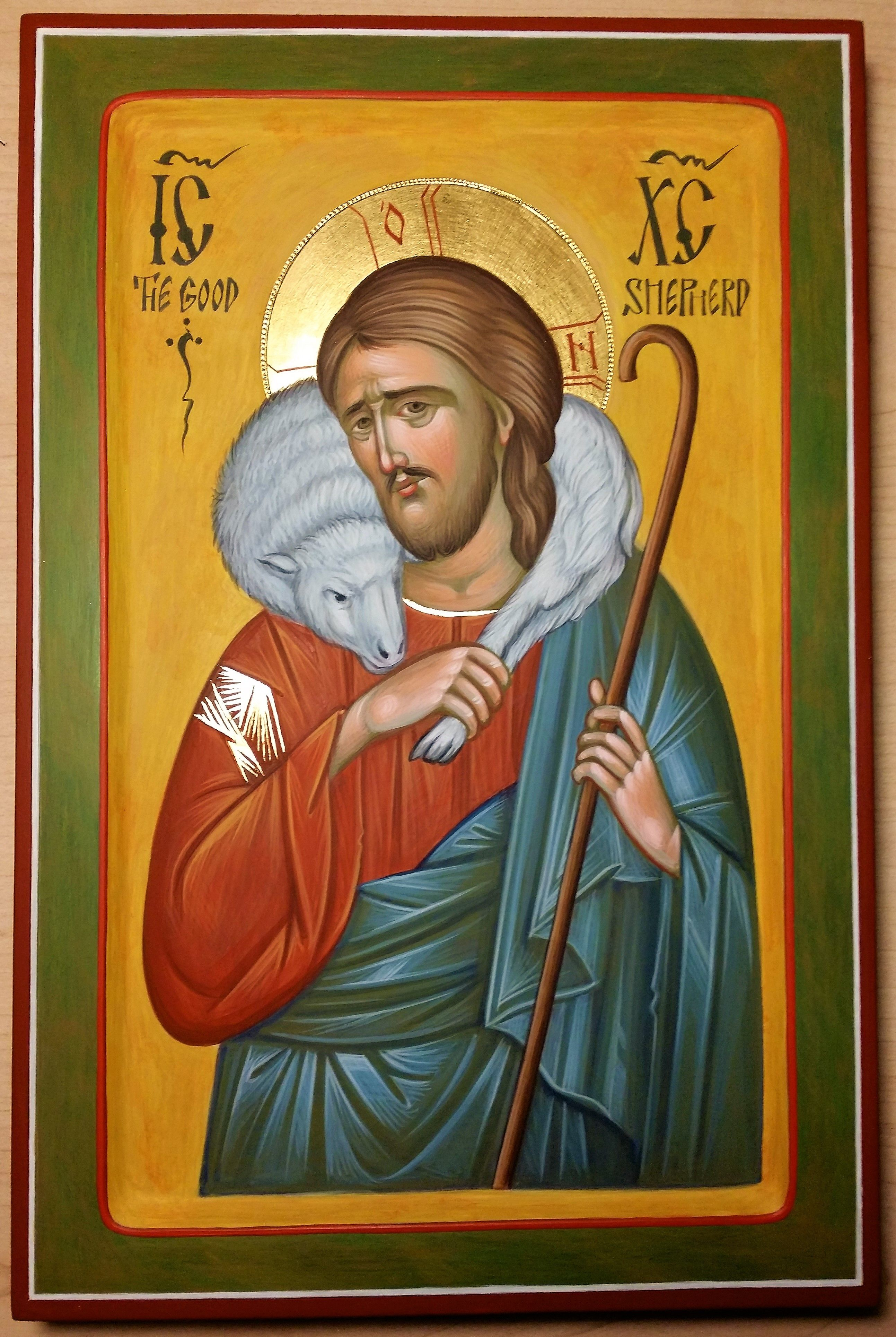 Christ the good shepherd icon hand painted by georgi chimev ikony christ the good shepherd icon hand painted by georgi chimev voltagebd Images
