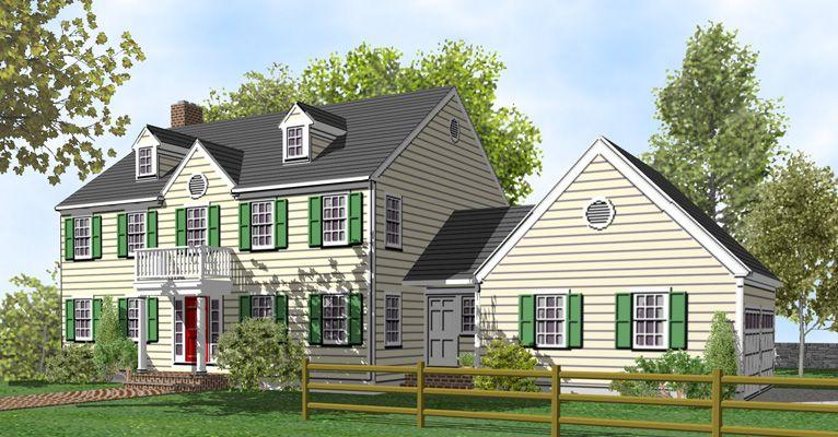Attached garage idea   Garagw   Pinterest   Colonial house plans ...