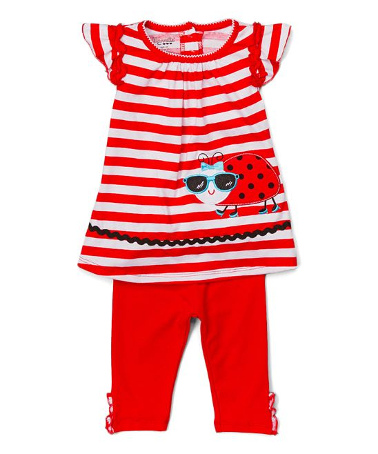 Red Ladybug Tunic & Leggings - Girls