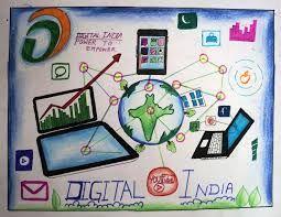 Image result for poster on digital india   Digital india ...