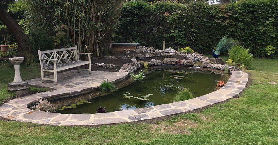 Small Koi Pond | Garden pond design, Pond design, Koi pond ...