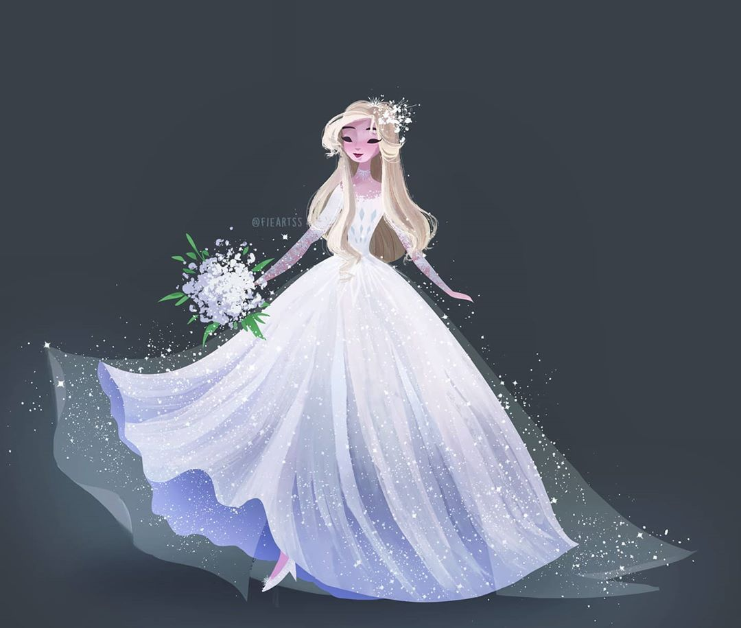 F I E R R A N Y H A L I T A Fieartss Instagram Photos And Videos Elsa Wedding Dress Wedding Dresses Wedding [ 915 x 1080 Pixel ]