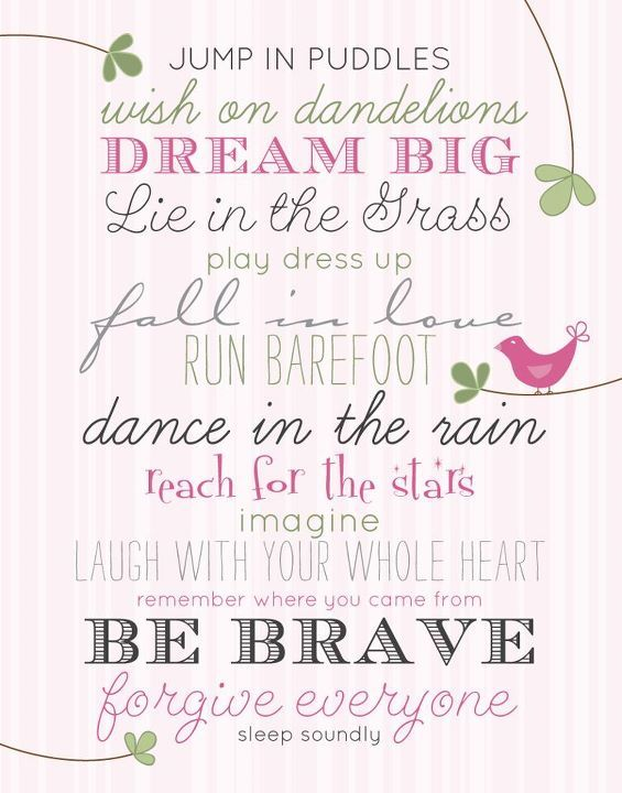 Poster for baby girl nursery   Baby girl quotes, Baby quotes ...
