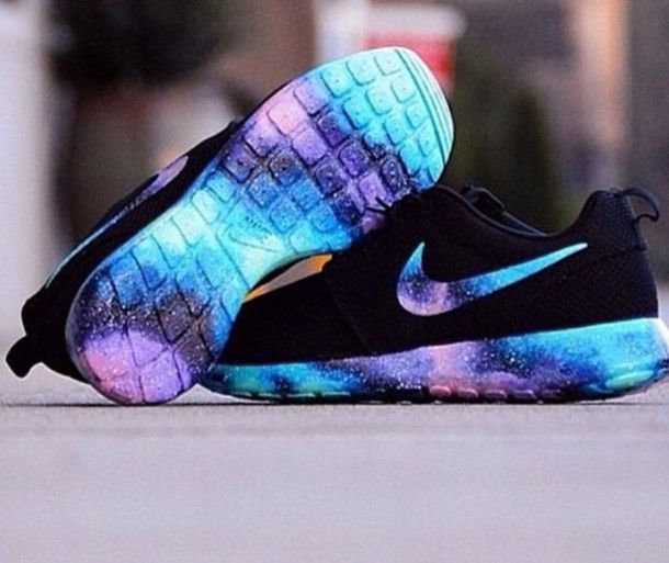Custom nike Roshe Run galaxy two | SHOE IDEAS | Pinterest | Nike roshe,  Roshe and Fashion