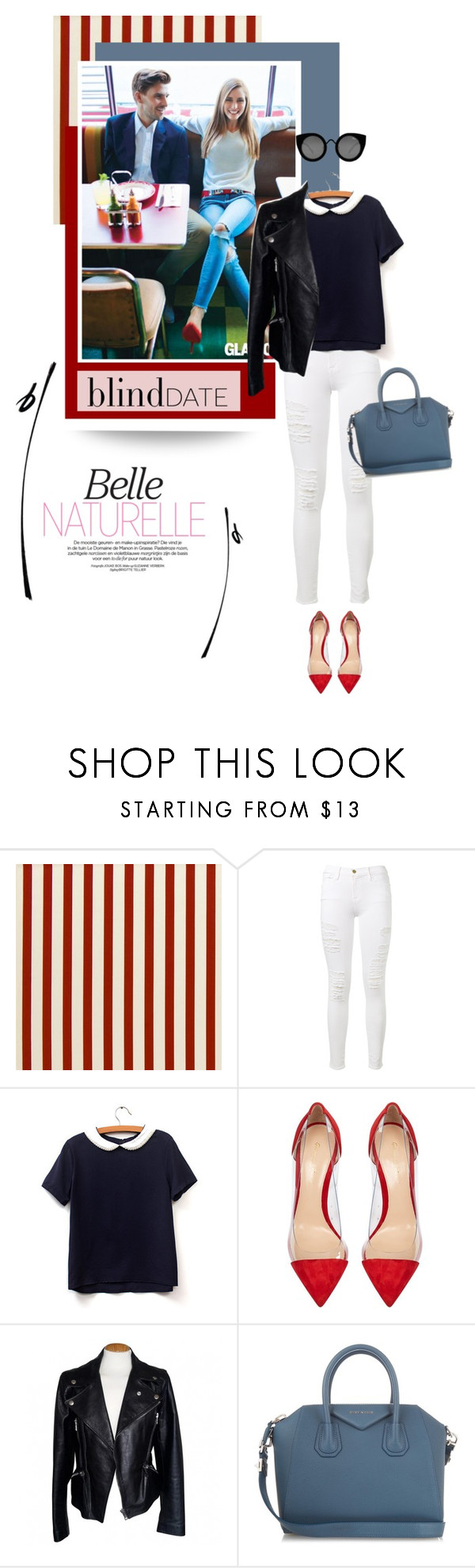 """Blind Date"" by pippi-loves-music ❤ liked on Polyvore featuring Frame, Gianvito Rossi, Alexander McQueen, Givenchy, Quay and blinddate"