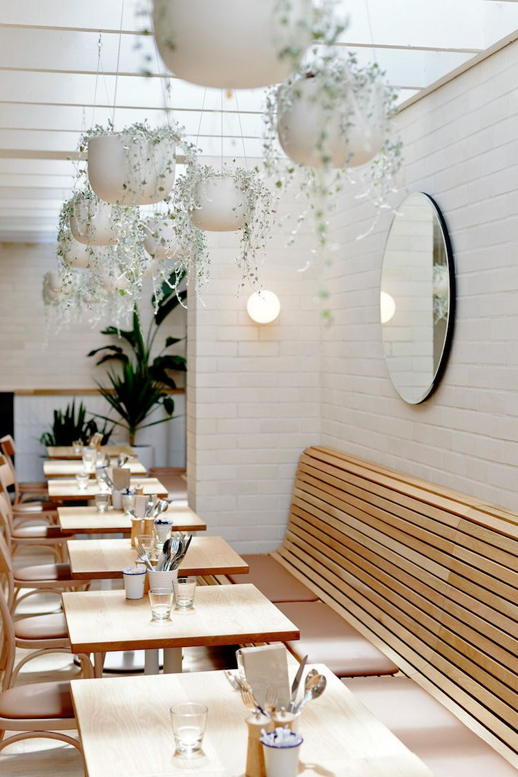 My Scandinavian Home How To Style Your Home With Rounded Mirrors Modern Restaurant Design Restaurant Interior Design Modern Restaurant