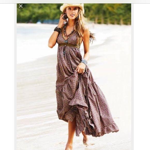 """Victoria secret """"FLORAL"""" halter dress! Floral halter dress Victoria's Secret Dresses Maxi"""