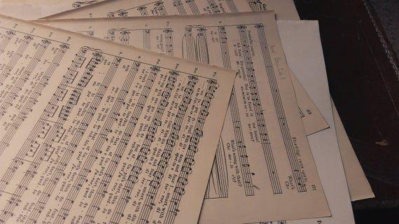 Sheet Music-15pcs Vintage & Contemporary Lyrical and orchestral sheet music bundle #vintagesheetmusic