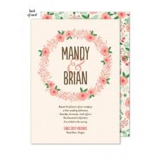 Floral Wreath Wedding Suite Invitation