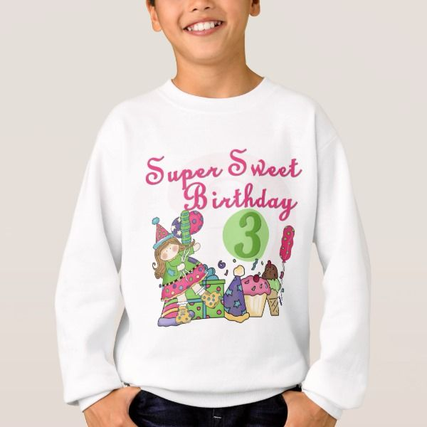 Super Sweet 3rd Birthday Tshirts And Gifts Kidsclothing Age Threeyearold Toddlers T Shirts Kids Children