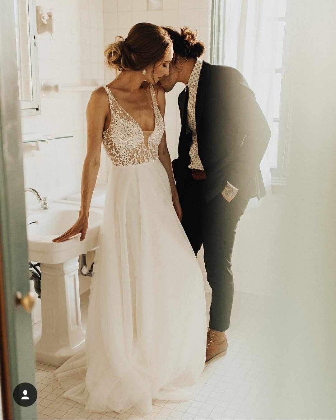 e1b07f86002 Chic Long Wedding Dress with Pearl Beaded from wendyhouse