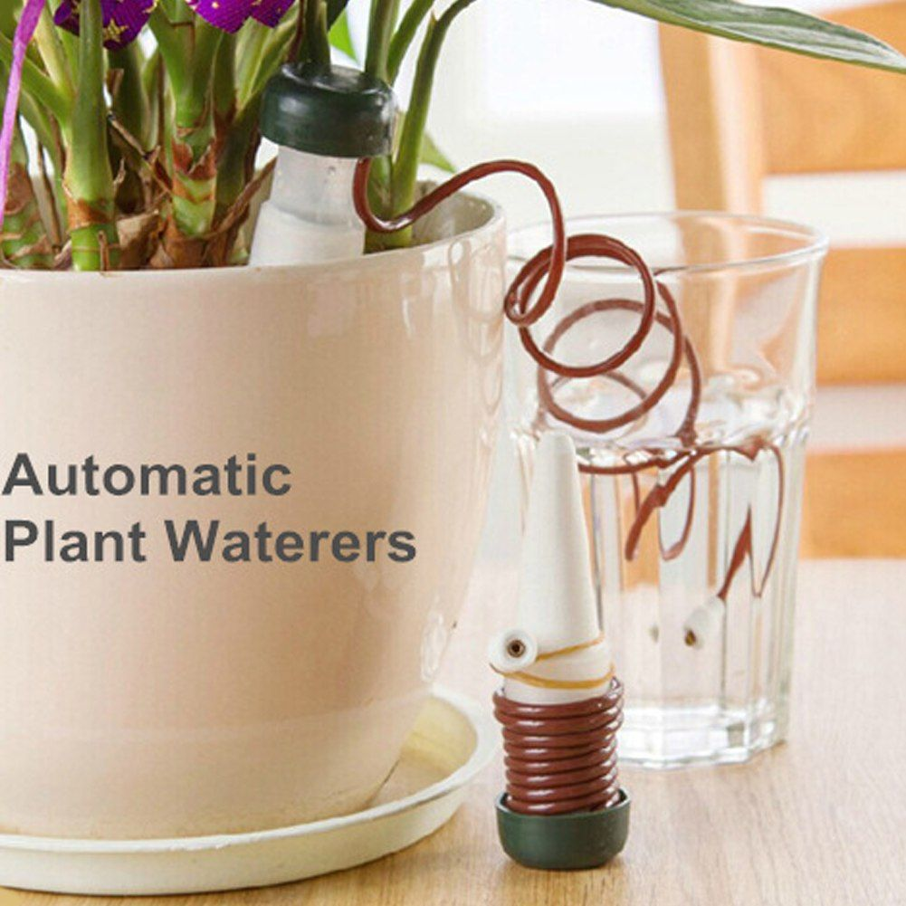 1pcs Or 2pcs Garden Automatic Watering Tool Indoor Auto Drip Irrigation Watering System Auto Plant Waterers Spike For Houseplant Review Plant Watering System Drip Irrigation Automatic Watering System