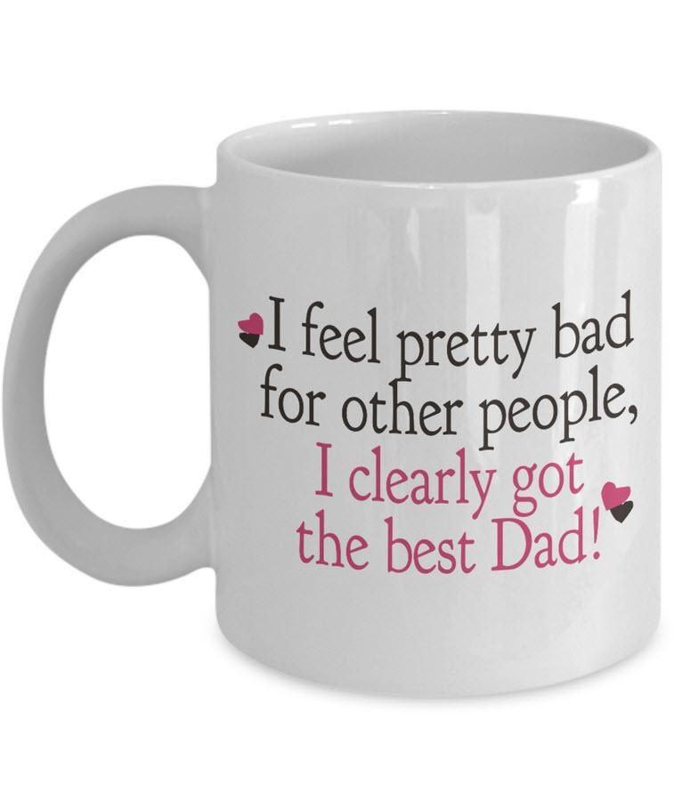 Dad coffee mug funny fathers day gift from son or