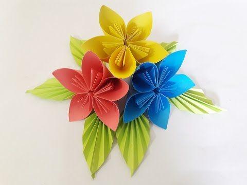 Origami flower easy paper flower 2017 easy step paper craft ideas origami flower easy paper flower 2017 easy step paper craft ideas youtube mightylinksfo