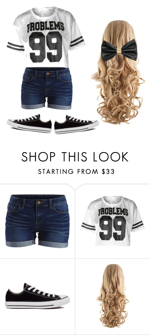 """Summer casual"" by taylor8069 ❤ liked on Polyvore featuring VILA, Converse and H&M"