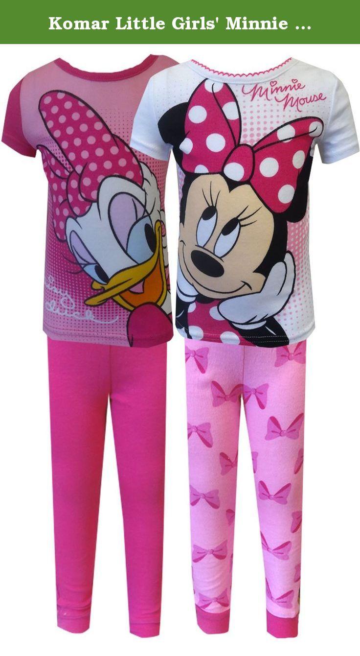6f887fd603a9 Komar Little Girls  Minnie and Daisy 4 Piece Short Sleeve Cotton Set ...