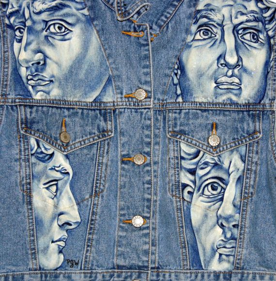 Custom Hand Painted Denim Jeans And Jackets Handpainted