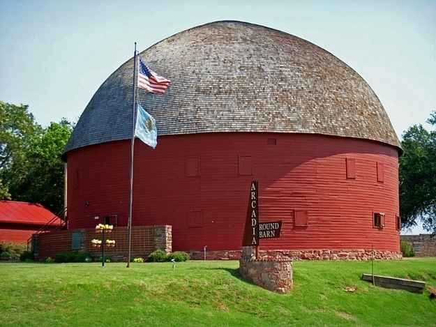 The Old Round Barn in Arcardia on Route 66.