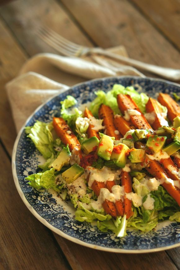 5:2 fast dinner; a warm carrot salad