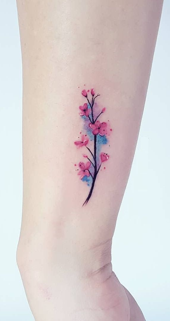 Watercolor Cherry Blossom Tattoo Idea Cherry Blossom Art