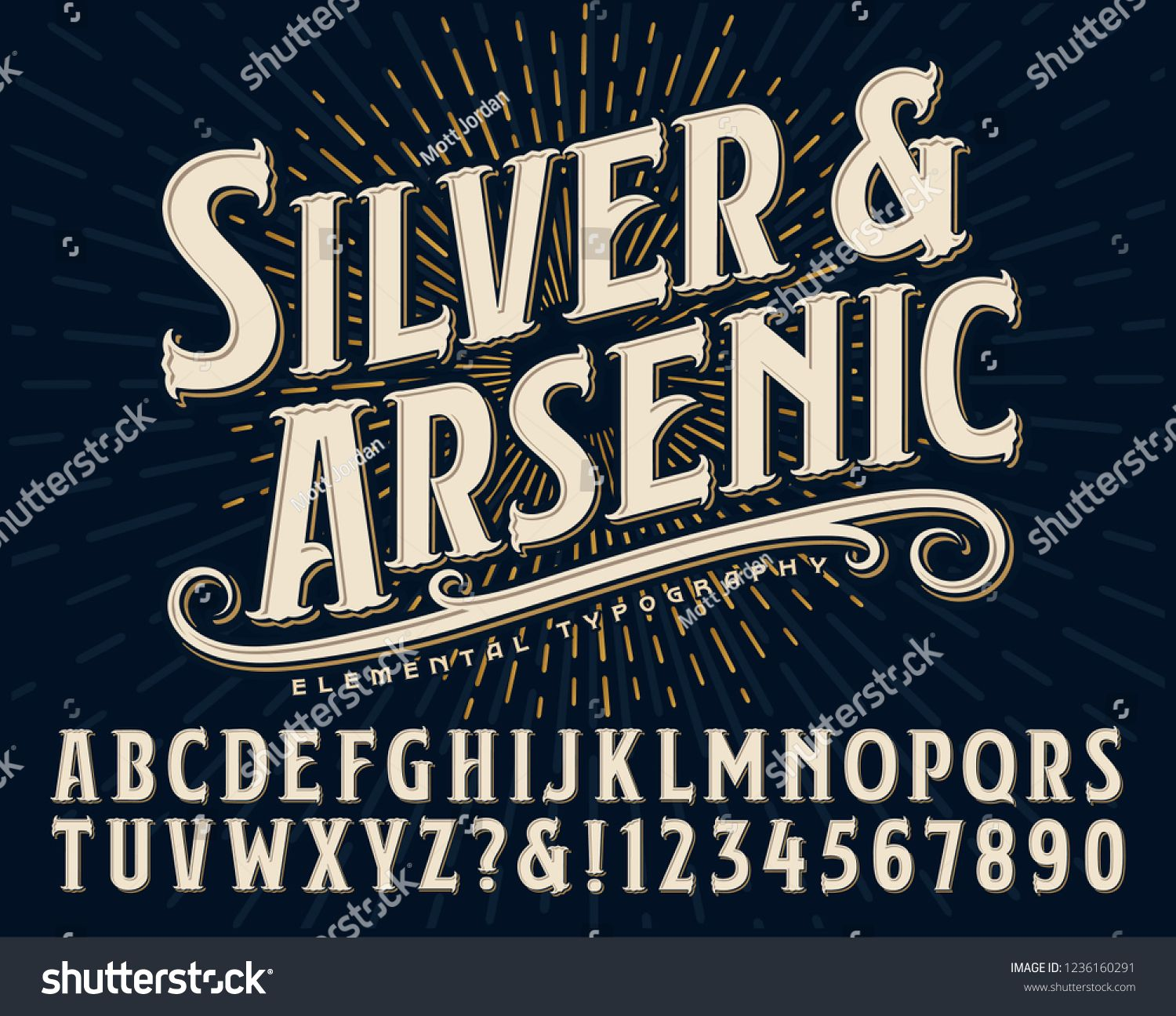Silver And Arsenic Font Is An Old Style Display Alphabet This