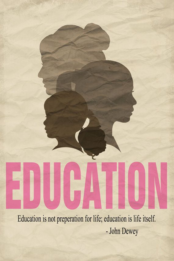 Decorative Education Quote Poster - Female Silhouettes - 20x30 ...