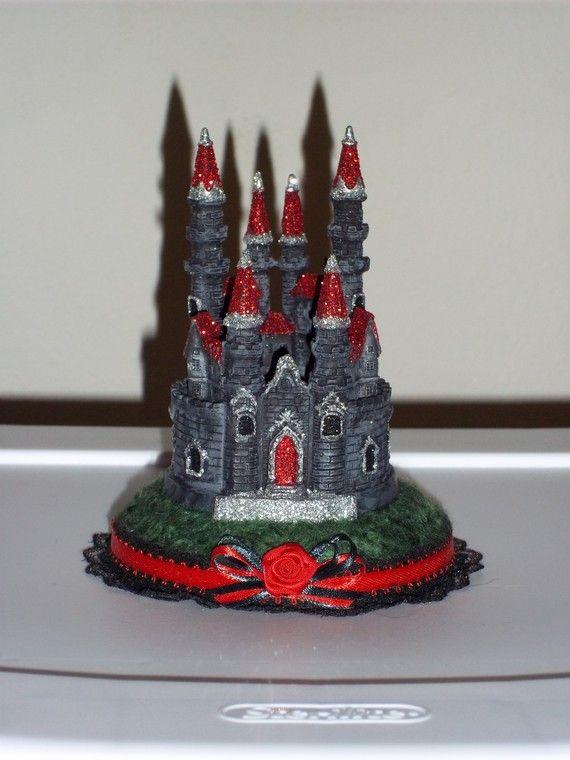Gothic Castle Wedding Cake Topper By Sarwynravenfae On Etsy