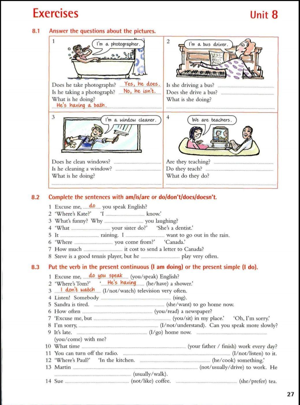 Exercises unit 8   Apprendre l'anglais [ 1401 x 1039 Pixel ]
