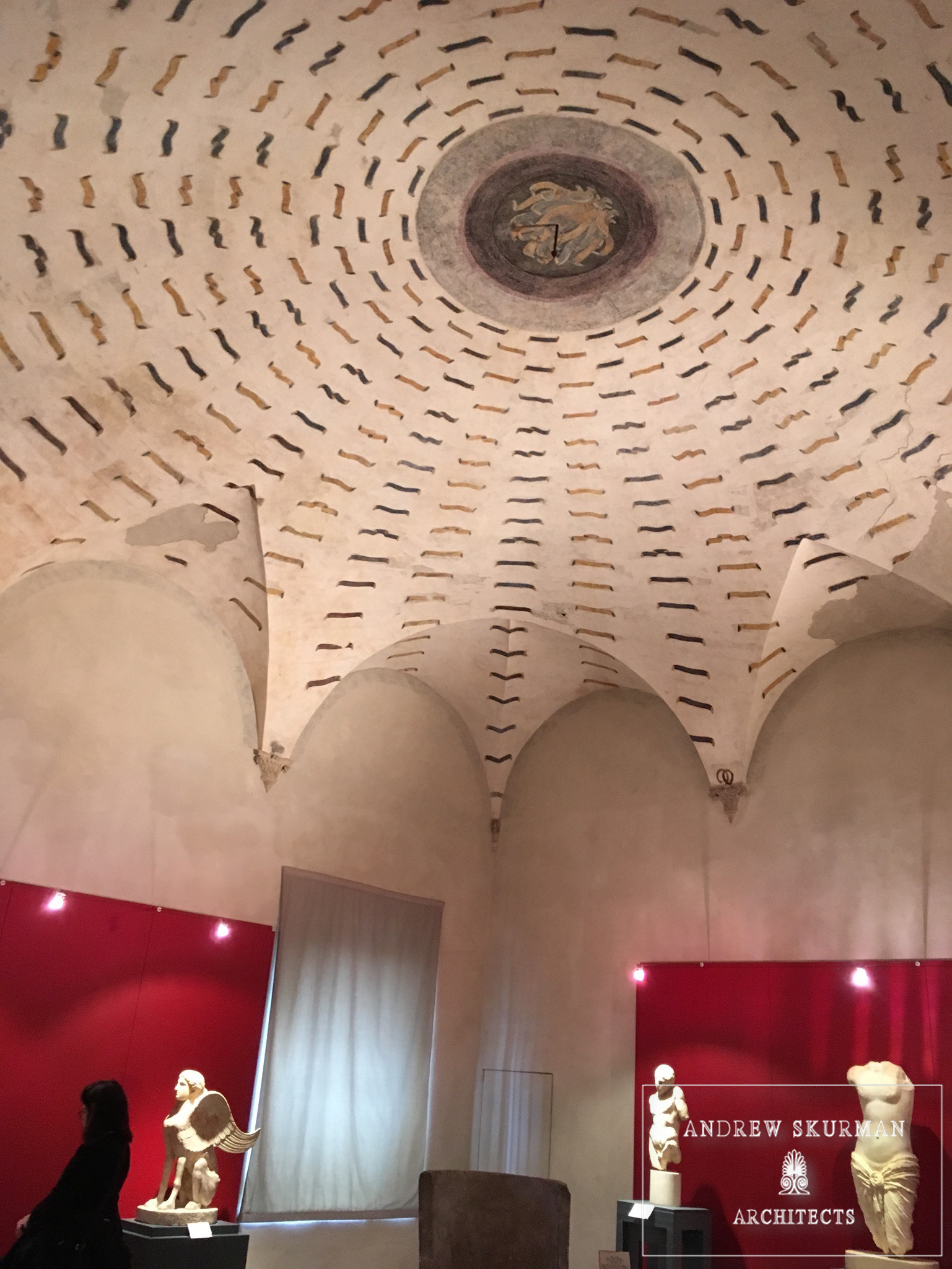 Itus incredible to see how this round vaulted ceiling is made to