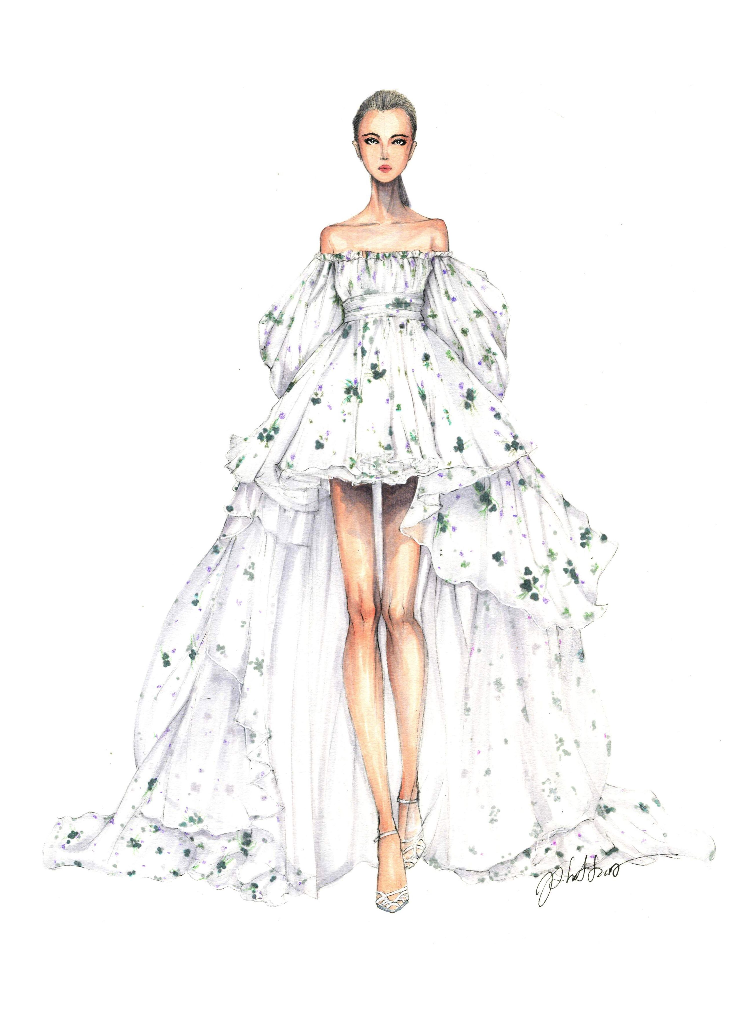 design drawings fashion sketches dresses � fashion dresses