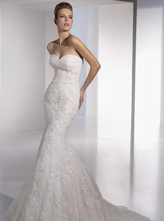 c027ccf3e SAN PATRICK Evelyn Talla 4 Vestido de novia NUEVO con etiquetas.  Deslumbrante