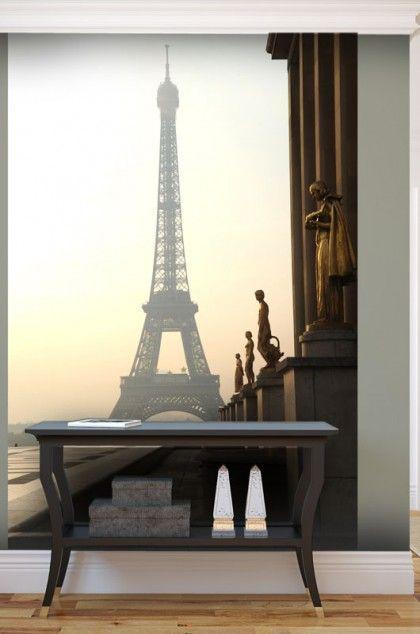 Papier Peint Paris Tour Eiffel Dans La Brume Papier Peint Salon