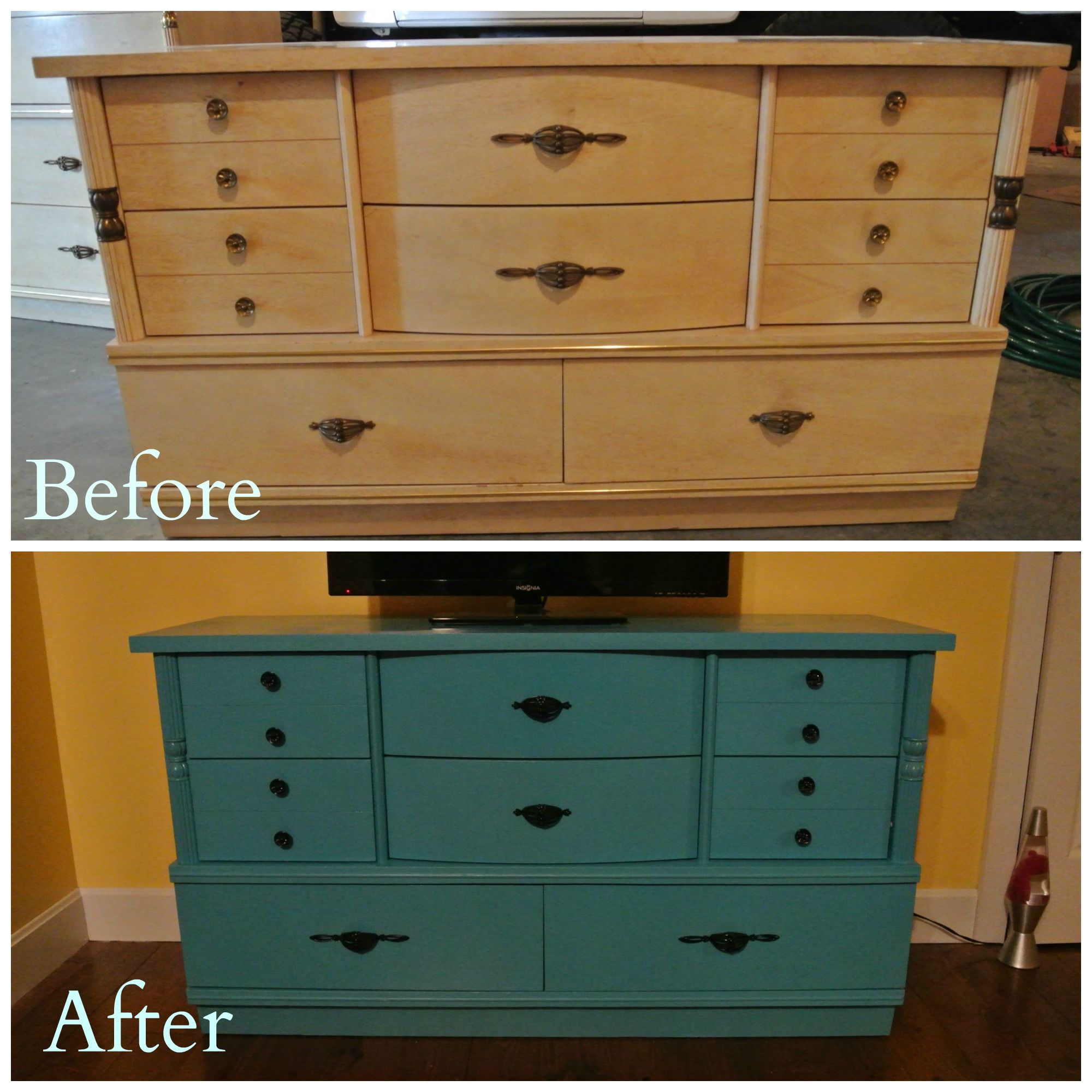 Turned an old outdated dresser and chest to updated pieces for my 12-year old's room. Love them!