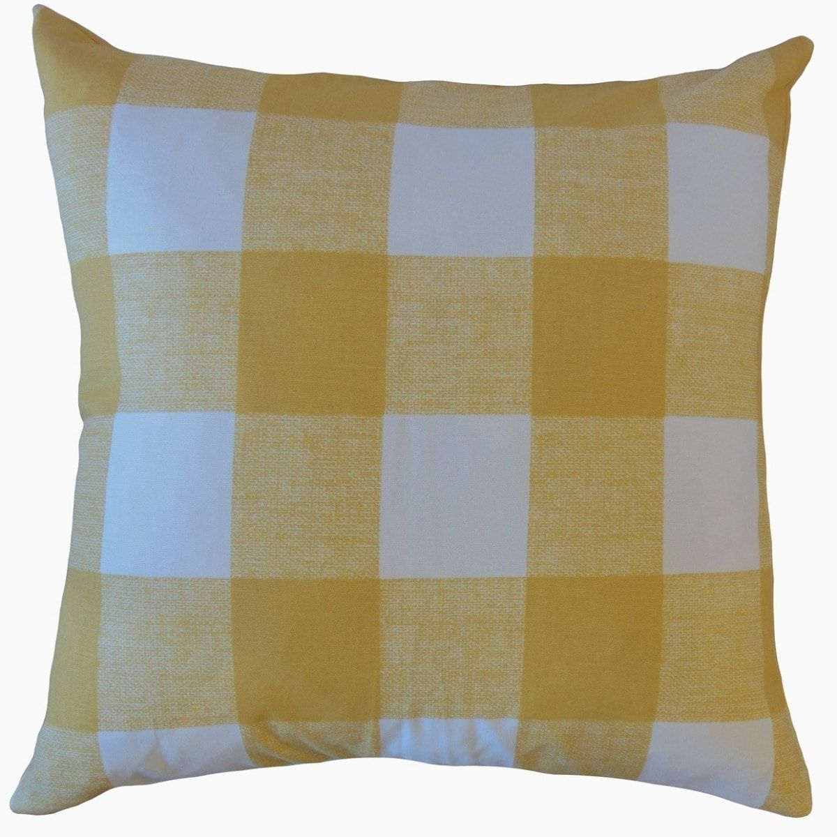 Jaspen Plaid Throw Pillow Yellow (