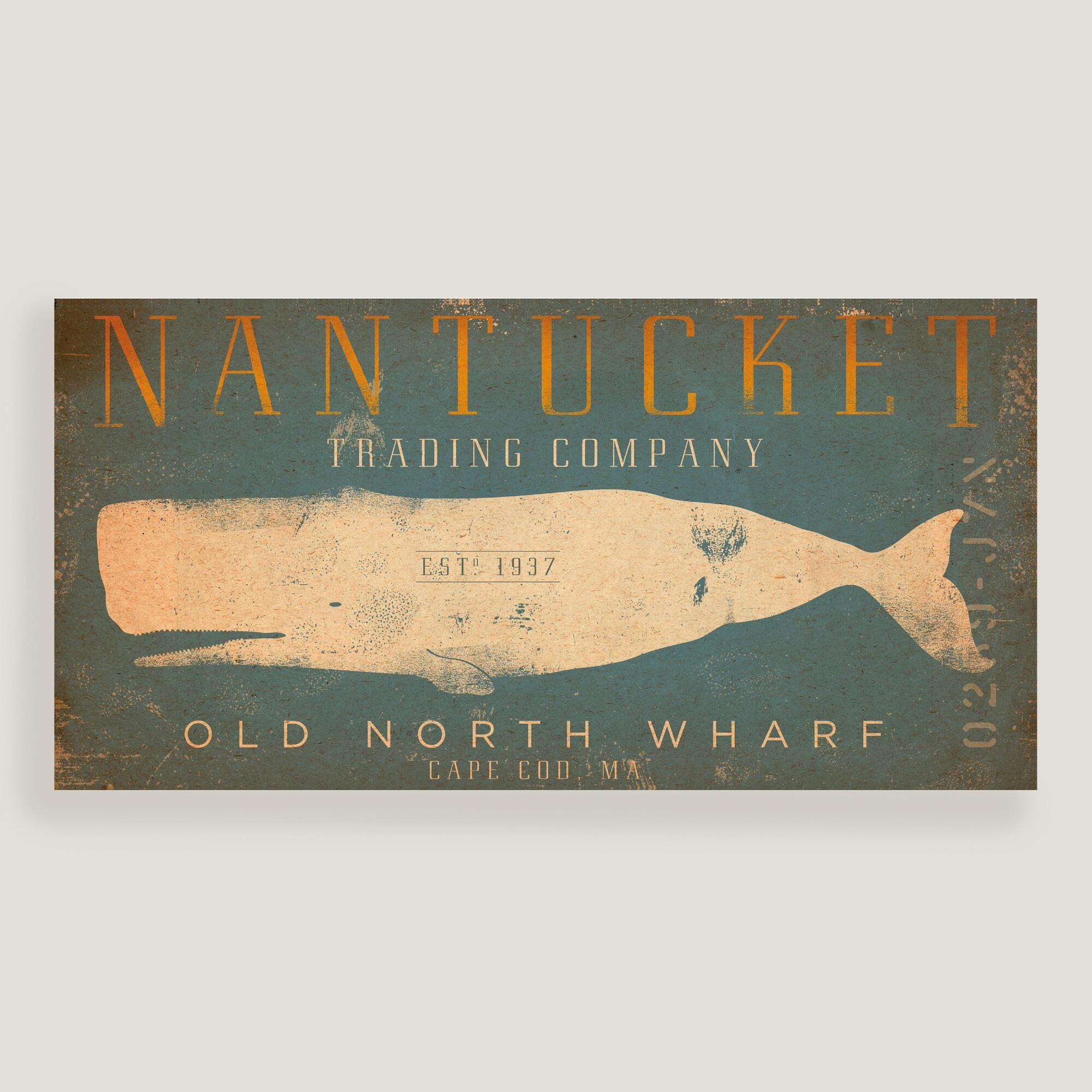 A nod to the island\'s whaling history, our ocean-hued Nantucket wall ...