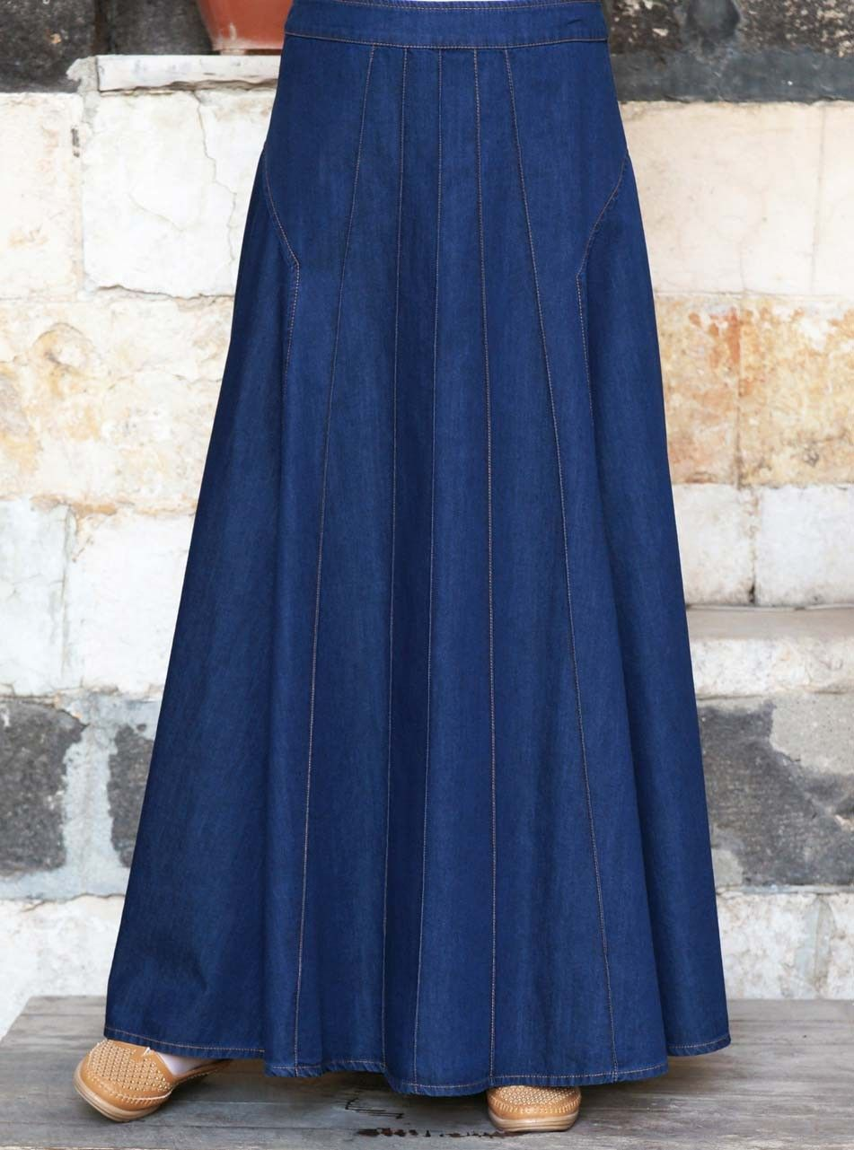 hot sales amazon best Alana Denim Maxi Skirt in 2020 | Long skirt fashion, Modest skirts ...