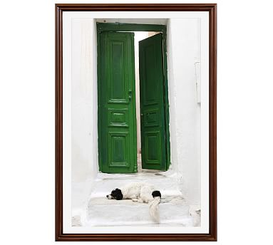 Dog and Green Door by Lupen Grainne, 28 x 42\
