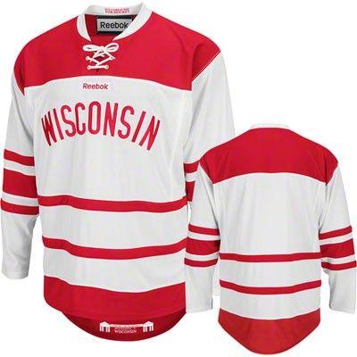 Wisconsin Badgers Red Commemorative Premier Hockey Jersey  49050aa4261