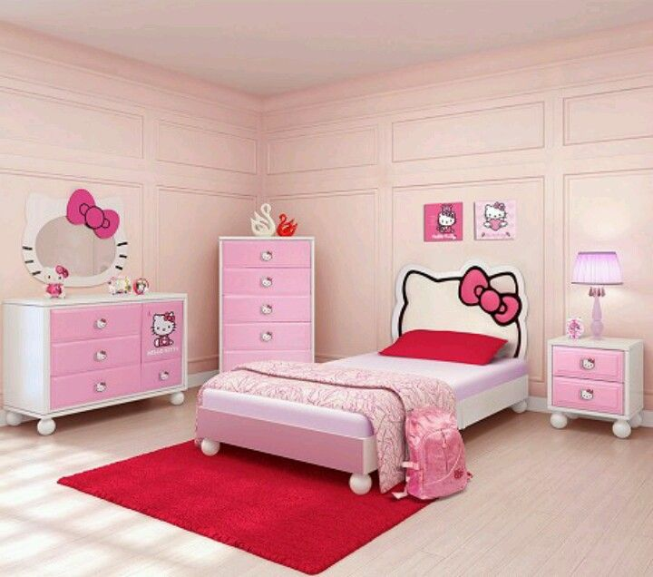Pin By Catherine Beauregard On For Gwen Hello Kitty Bedroom Decor Hello Kitty Bedroom Set Hello Kitty Bedroom