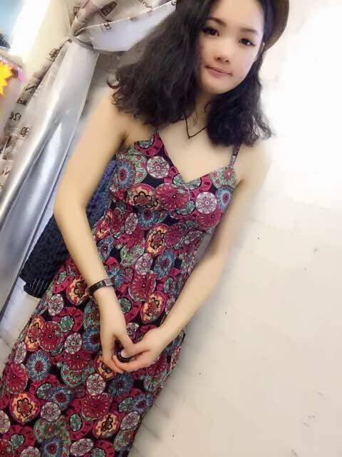 2015 fashionable long dress波西米亞新款碎花吊帶裙連衣裙