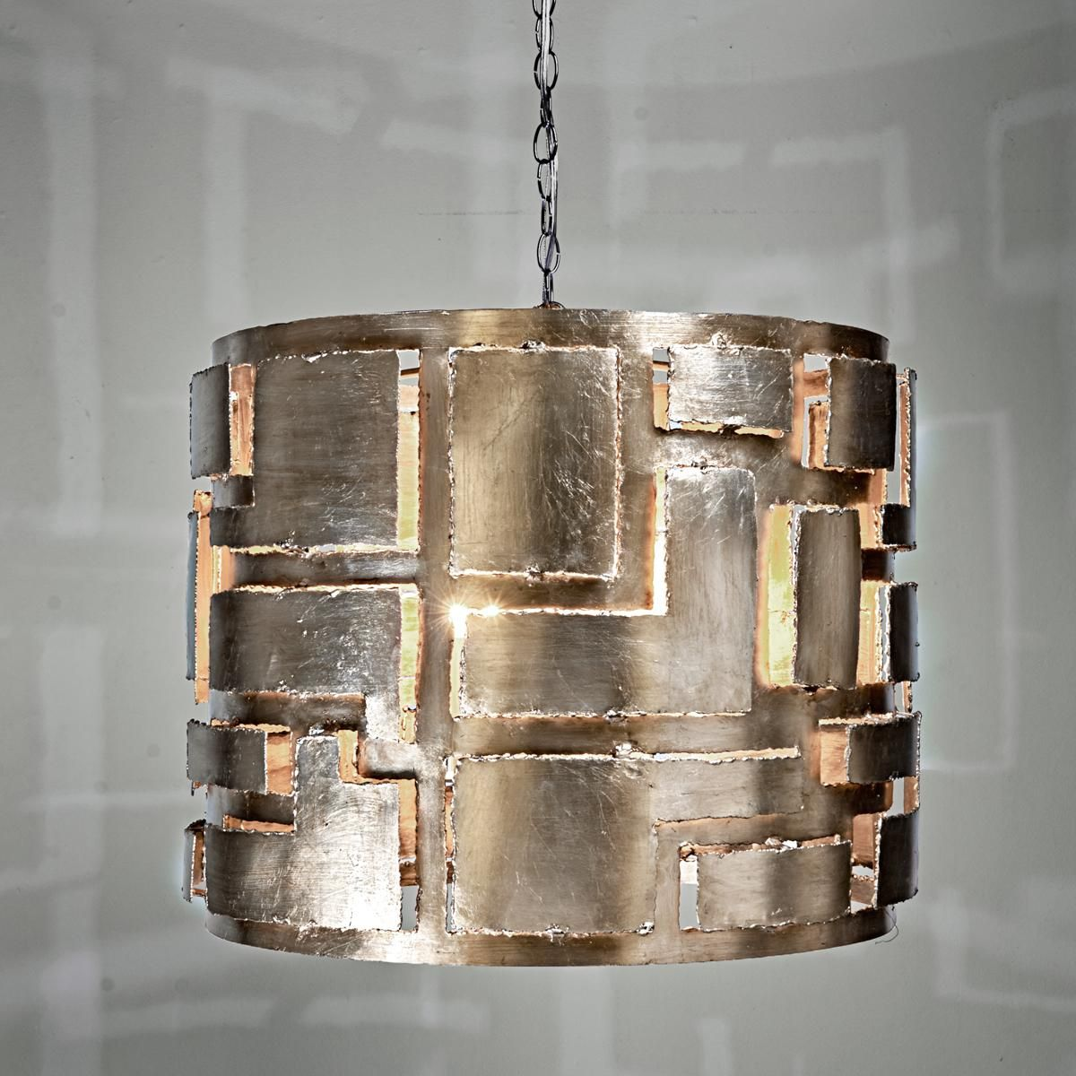 Metal Cut Out Chandelier This Brutalist style