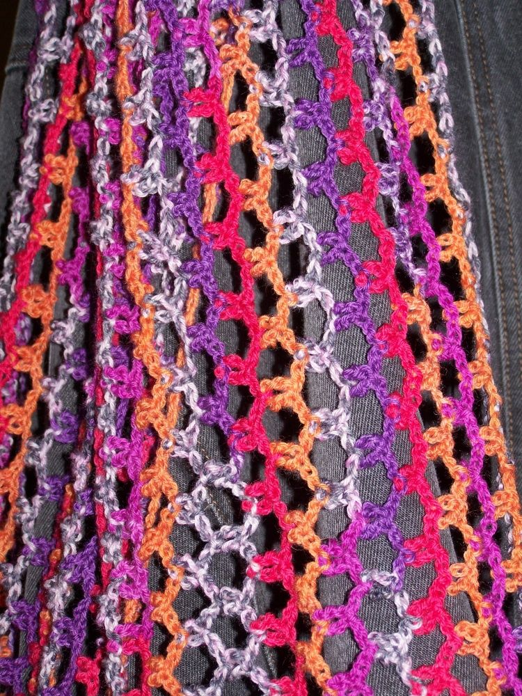 Chain Maille Scarf Free Crocheting Pattern Crochet Neckstuff