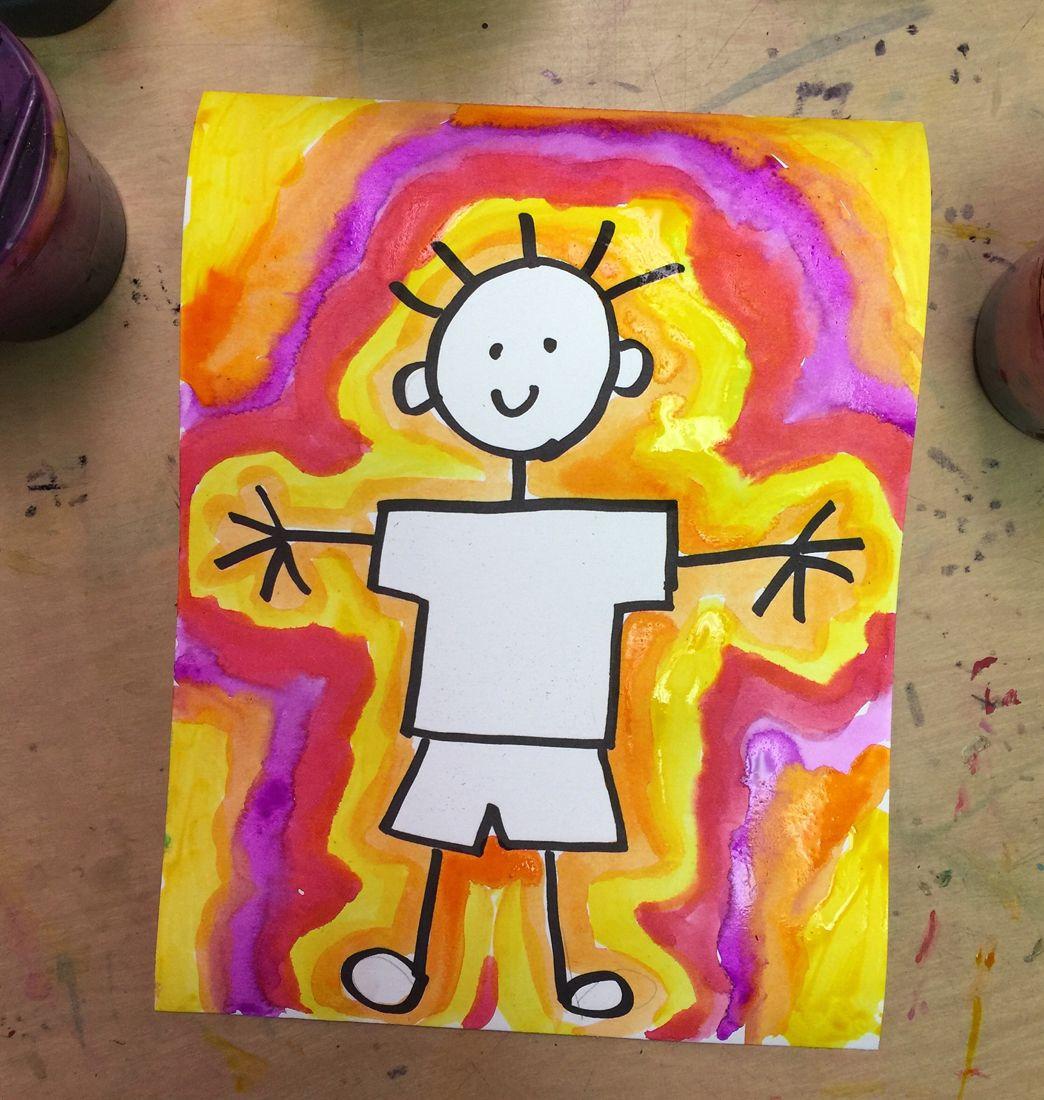 Draw a Stick Person | Kindergarten art, Stick figure ...